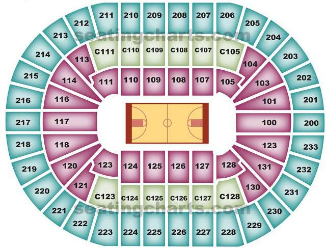 Cleveland Cavaliers Seating Chart for Quicken Loans Arena